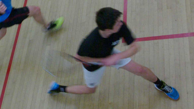 Sean In Action During Interclub Finals