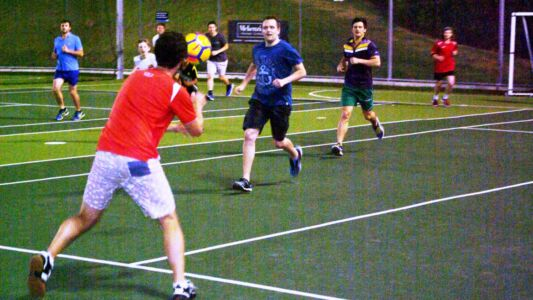 Squash Club Soccer Action On The Astro-Turf
